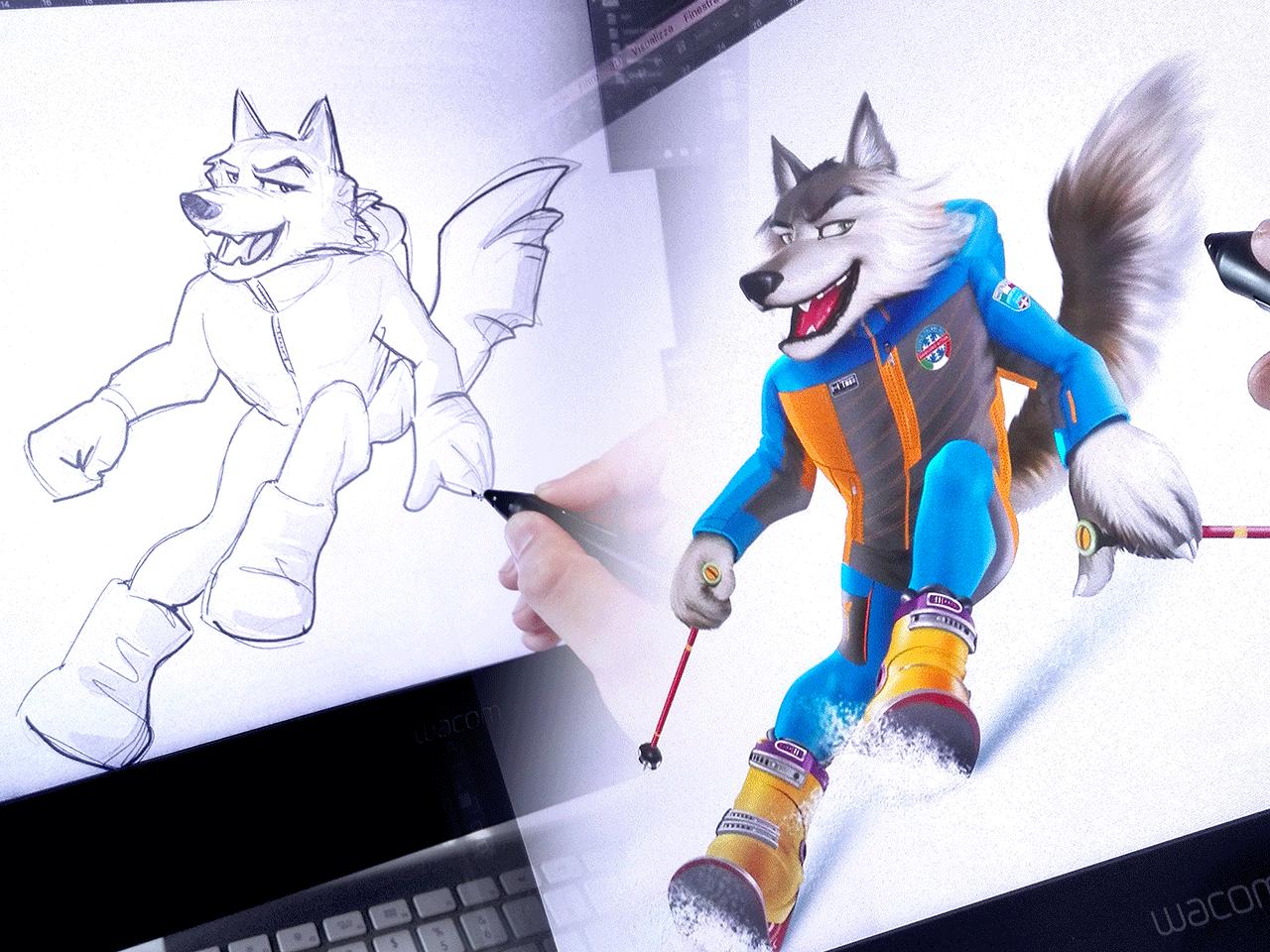 Illustrazioni, studio mascotte e characters