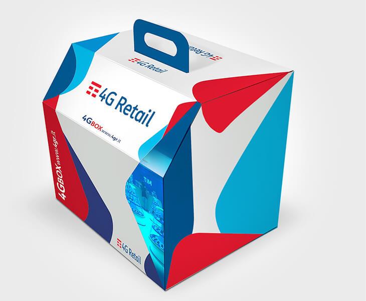 Tim 4G Retail packaging box Torino