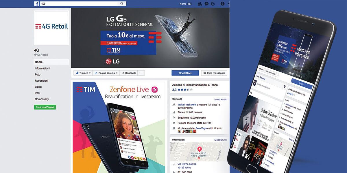 Tim 4G Retail social media Torino