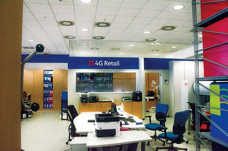 Tim 4G Retail allestimento interno torino