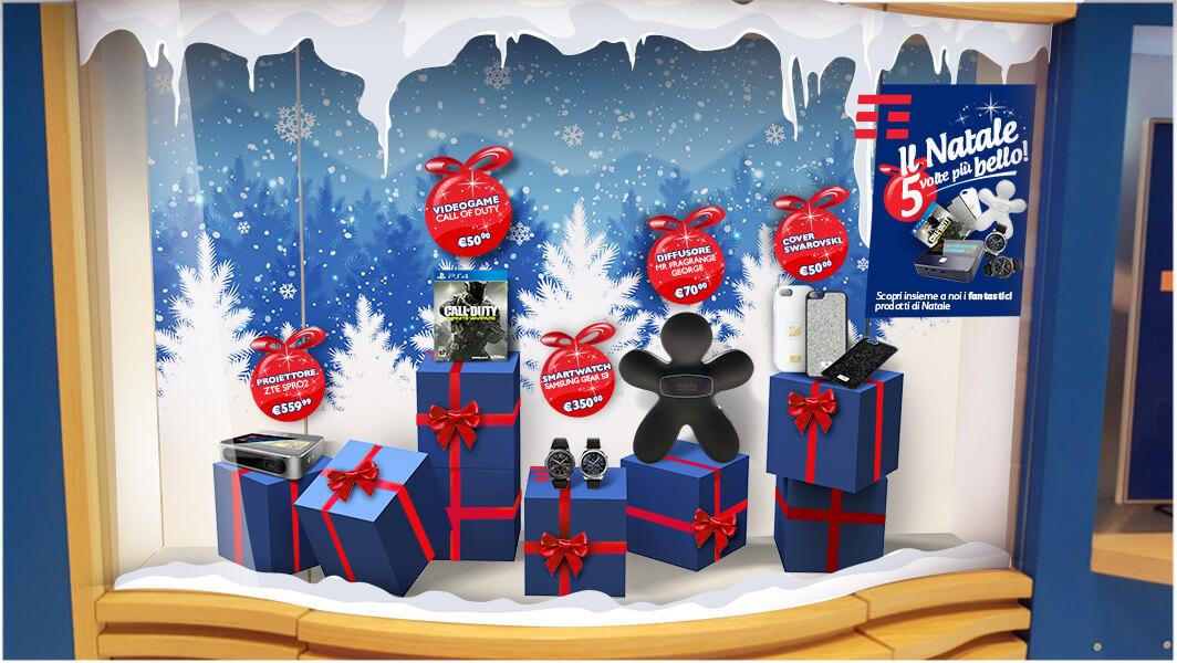 Tim 4G Retail allestimento vetrina Torino
