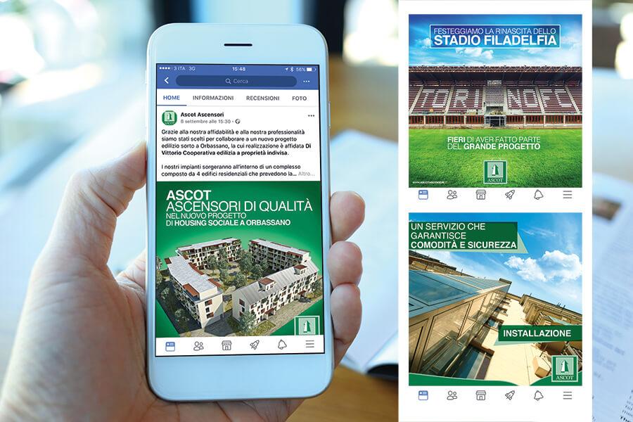 Landing page Ascot Ascensori Collegno