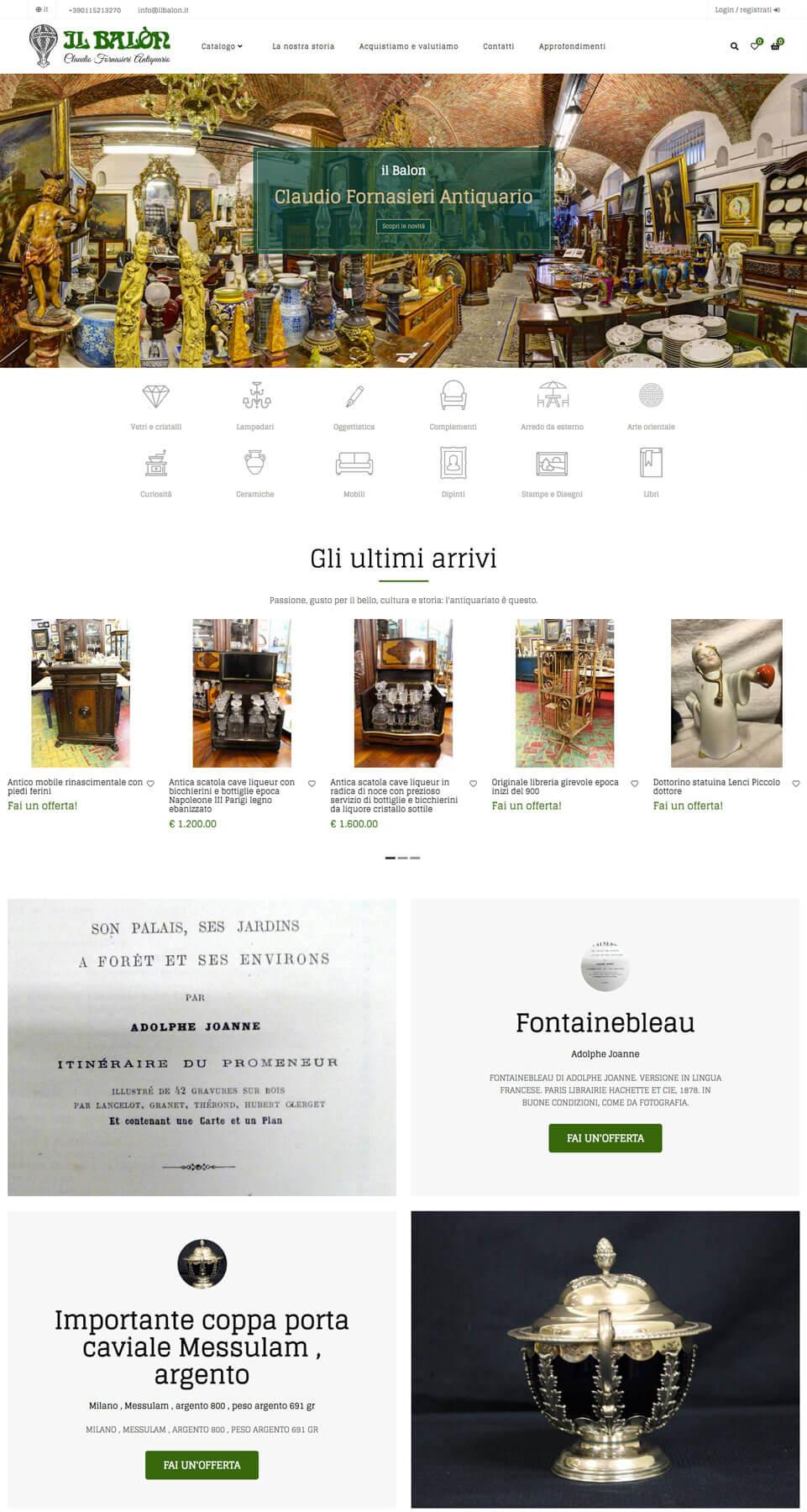 Il Balon - Sito e-commerce Torino