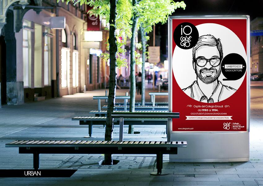 Campagna pubblicitaria Collegio Einaudi 80 Torino