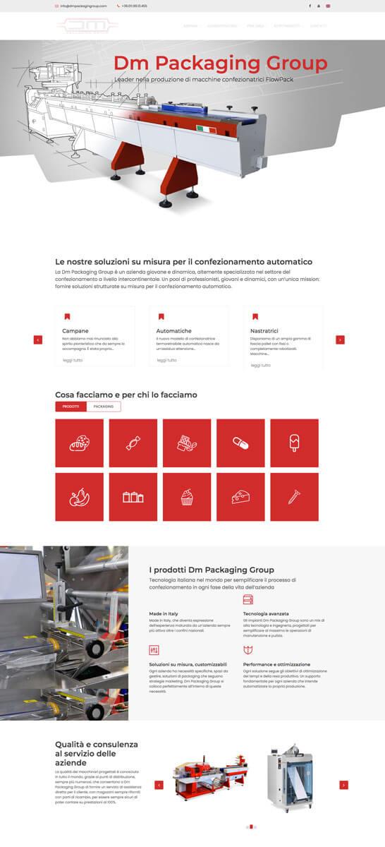 DM Packaging - Sito web  Torino