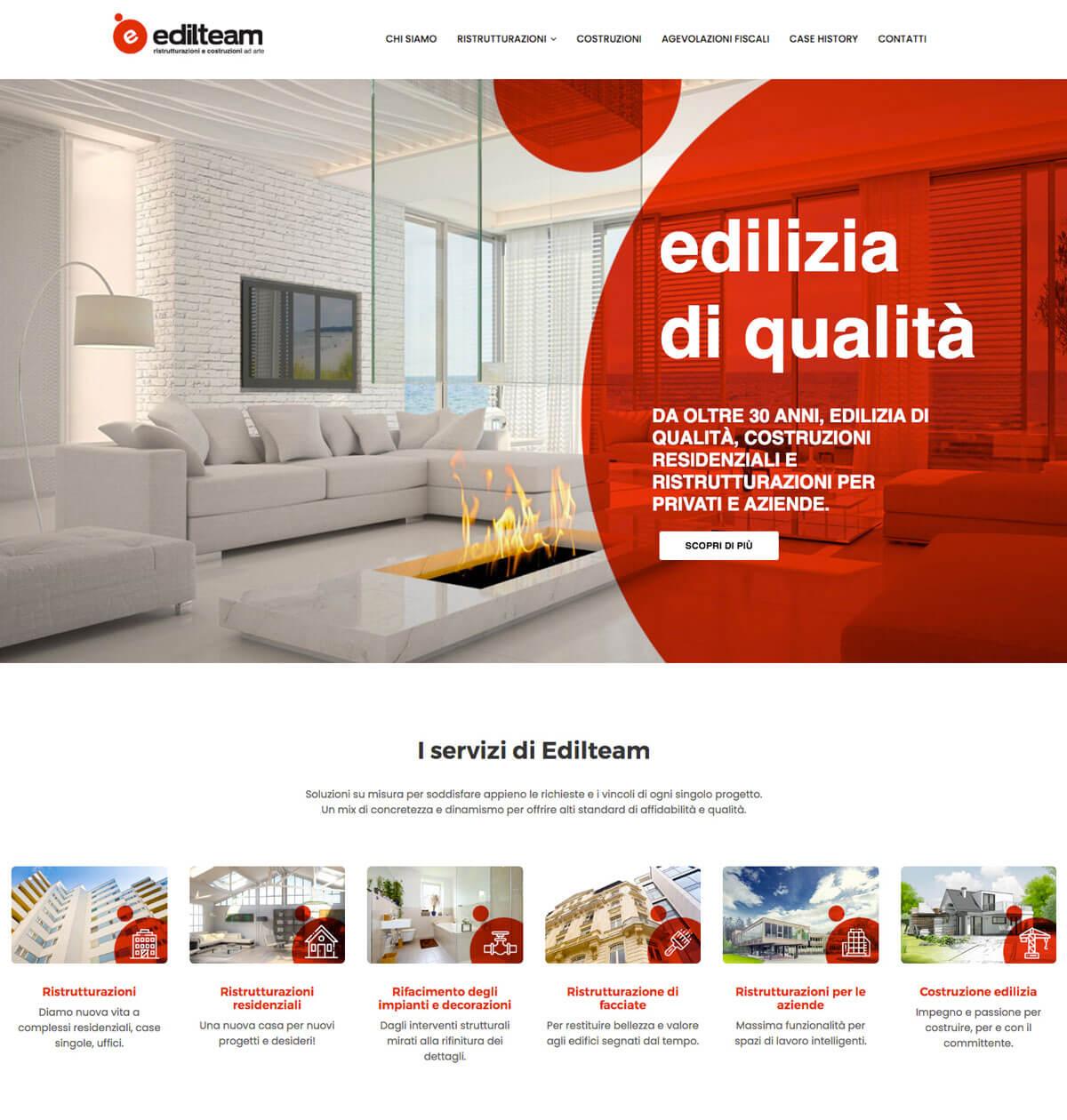 Edilteam - Sito web Torino
