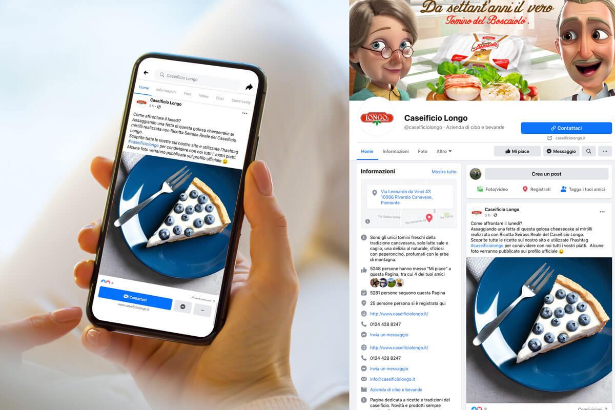 Caseificio Longo - Gestione Social Media Cuneo