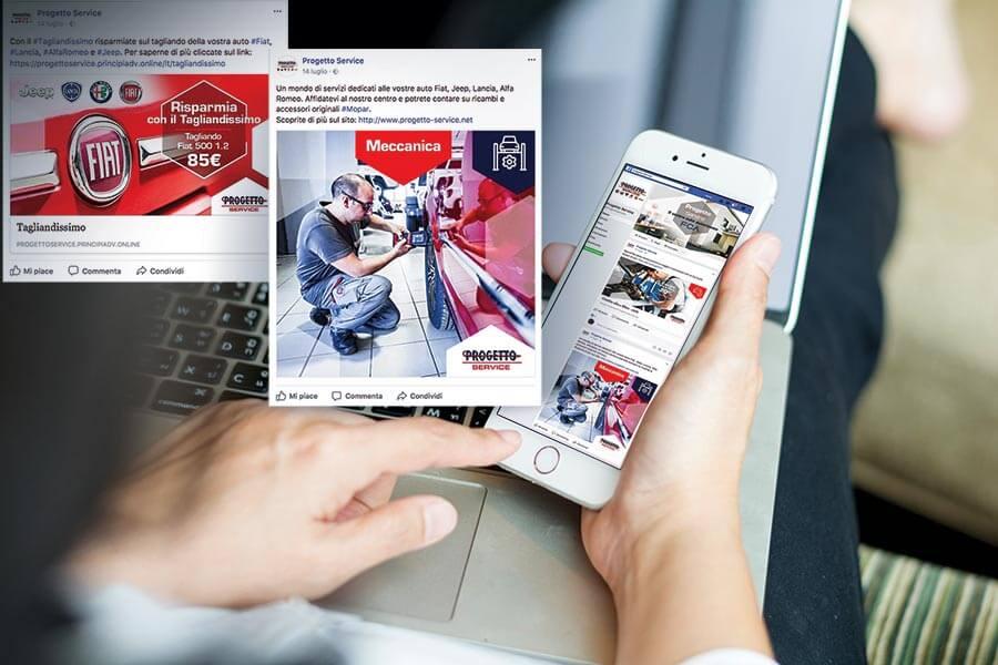 Progetto Service - Social Media - Facebook Torino