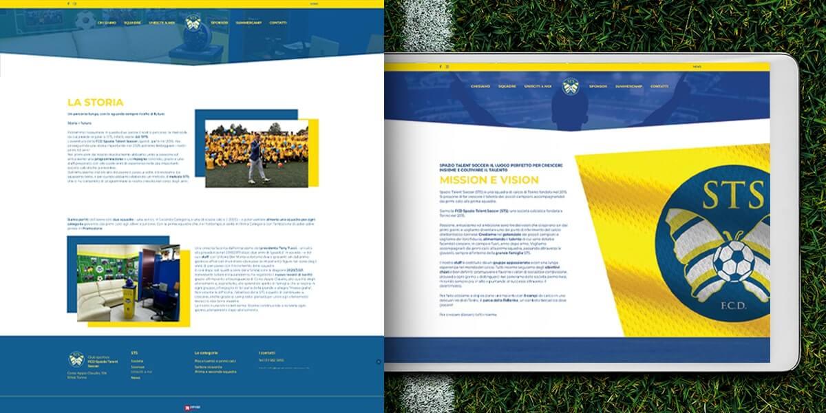 Spazio Talent Soccer - Sito web Torino