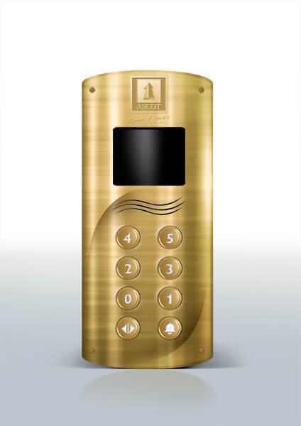 Ascot Ascensori progettazione design pulsantiera gold