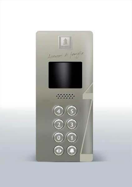 Ascot Ascensori progettazione design pulsantiera gray