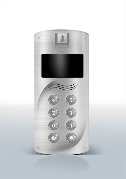 Ascot Ascensori progettazione design pulsantiera silver
