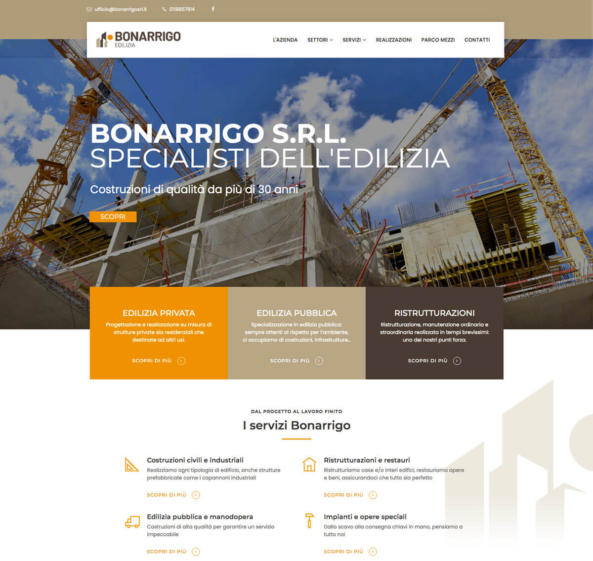Bonarrigo SRL - Sito web Torino