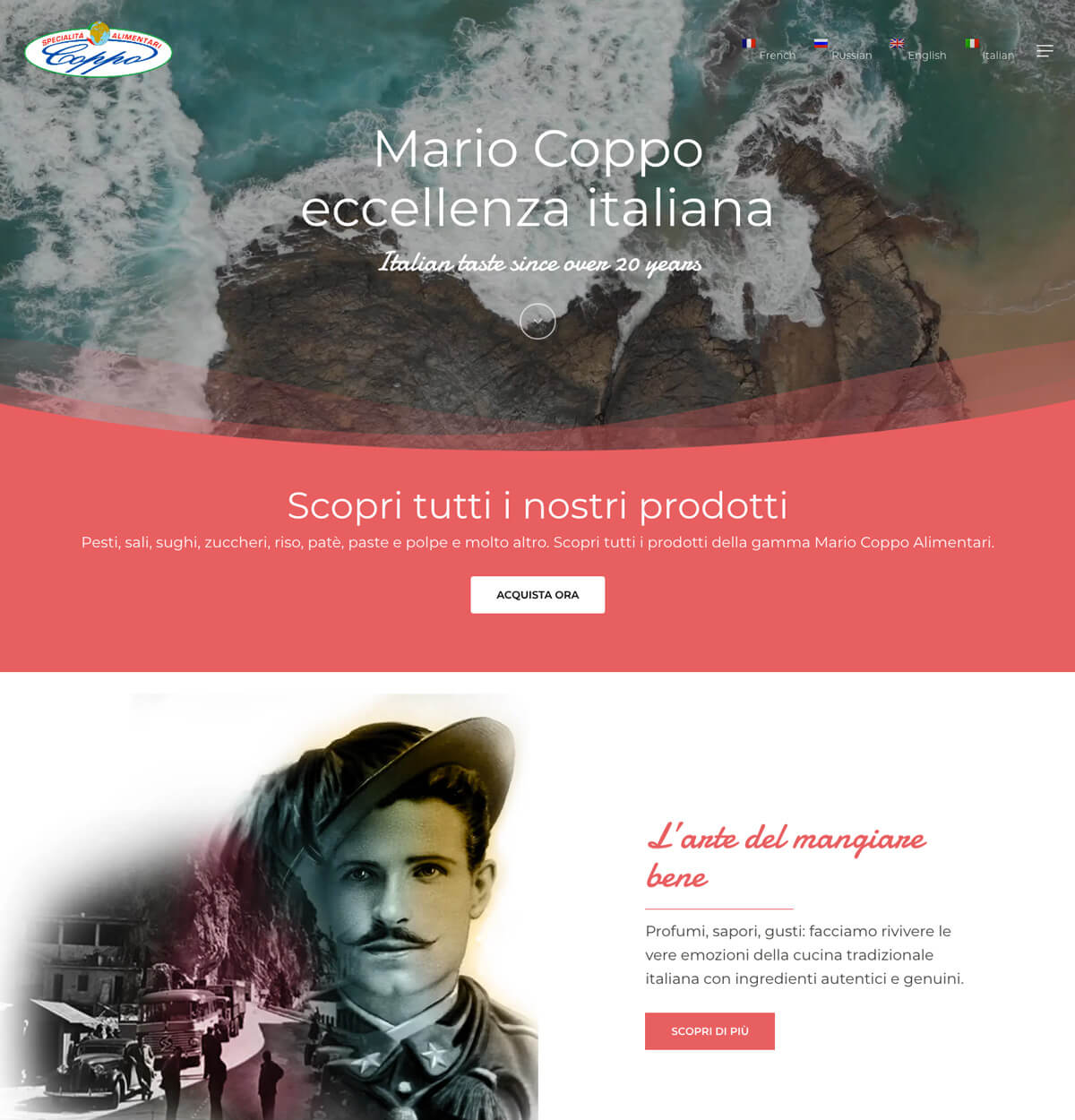 Coppo Alimentari - Sito web Liguria