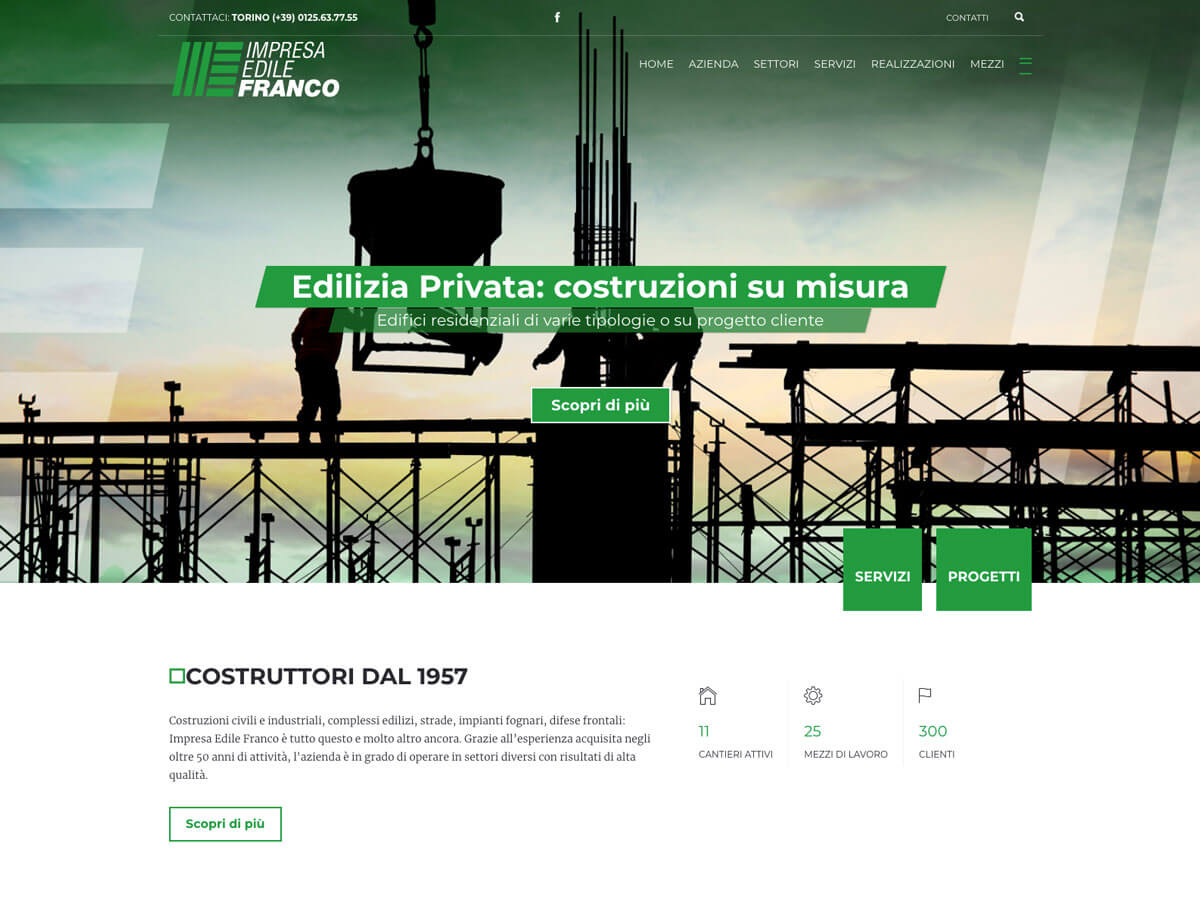 Impresa Edile Franco - Sito Web Torino