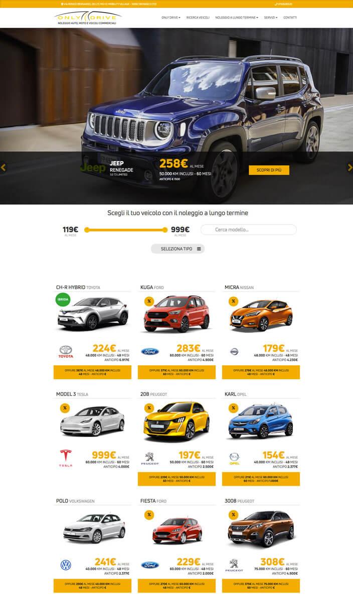 Only Drive - Sito Web Torino