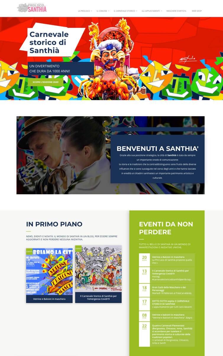 Pro Loco Santhià - Sito web Santhià