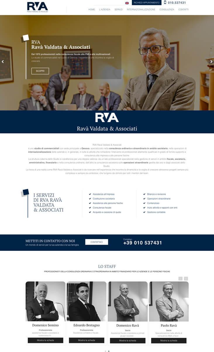 Ravà Associati - Sito Web Torino