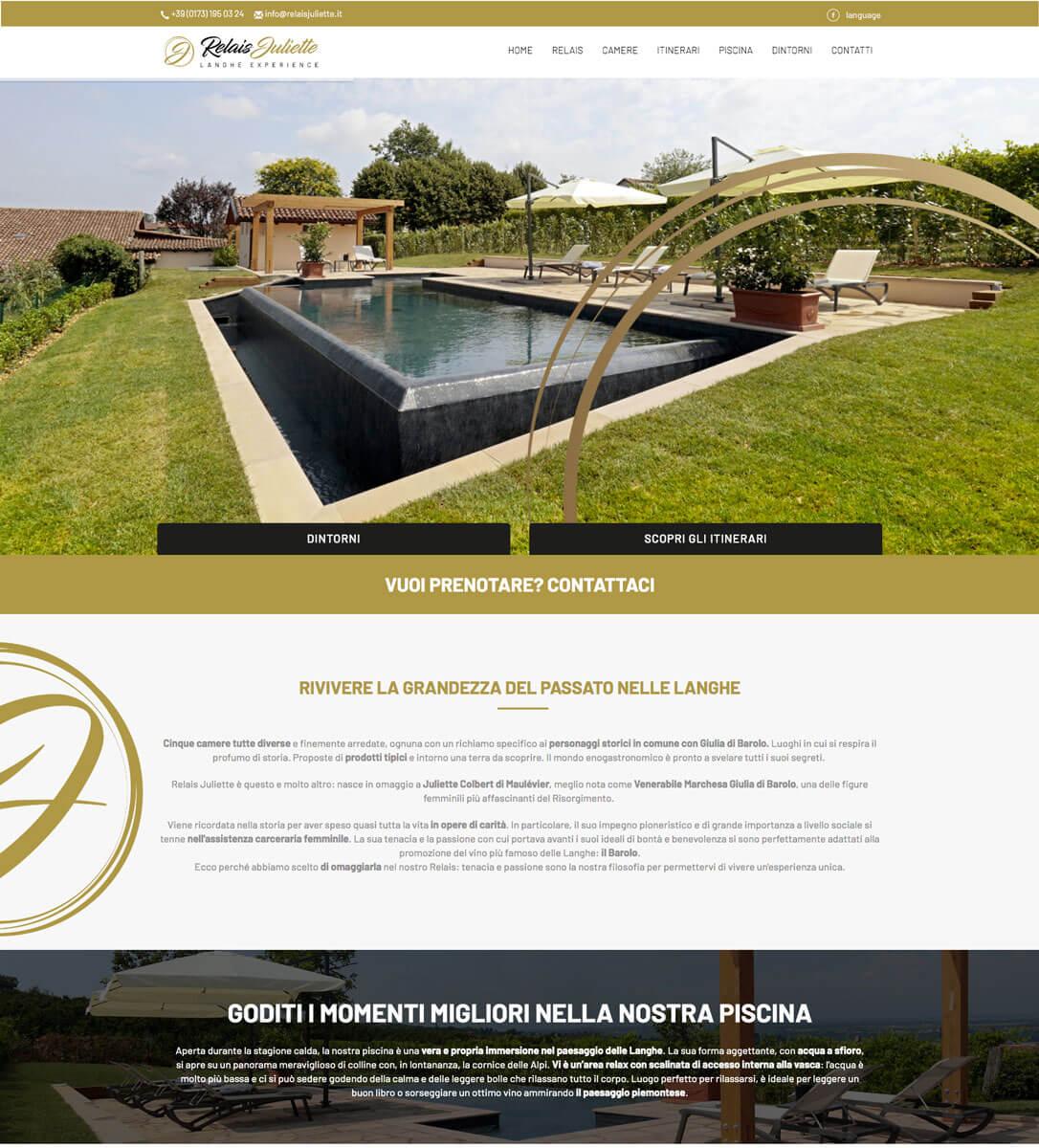 Relais Juliette - Sito web Langhe